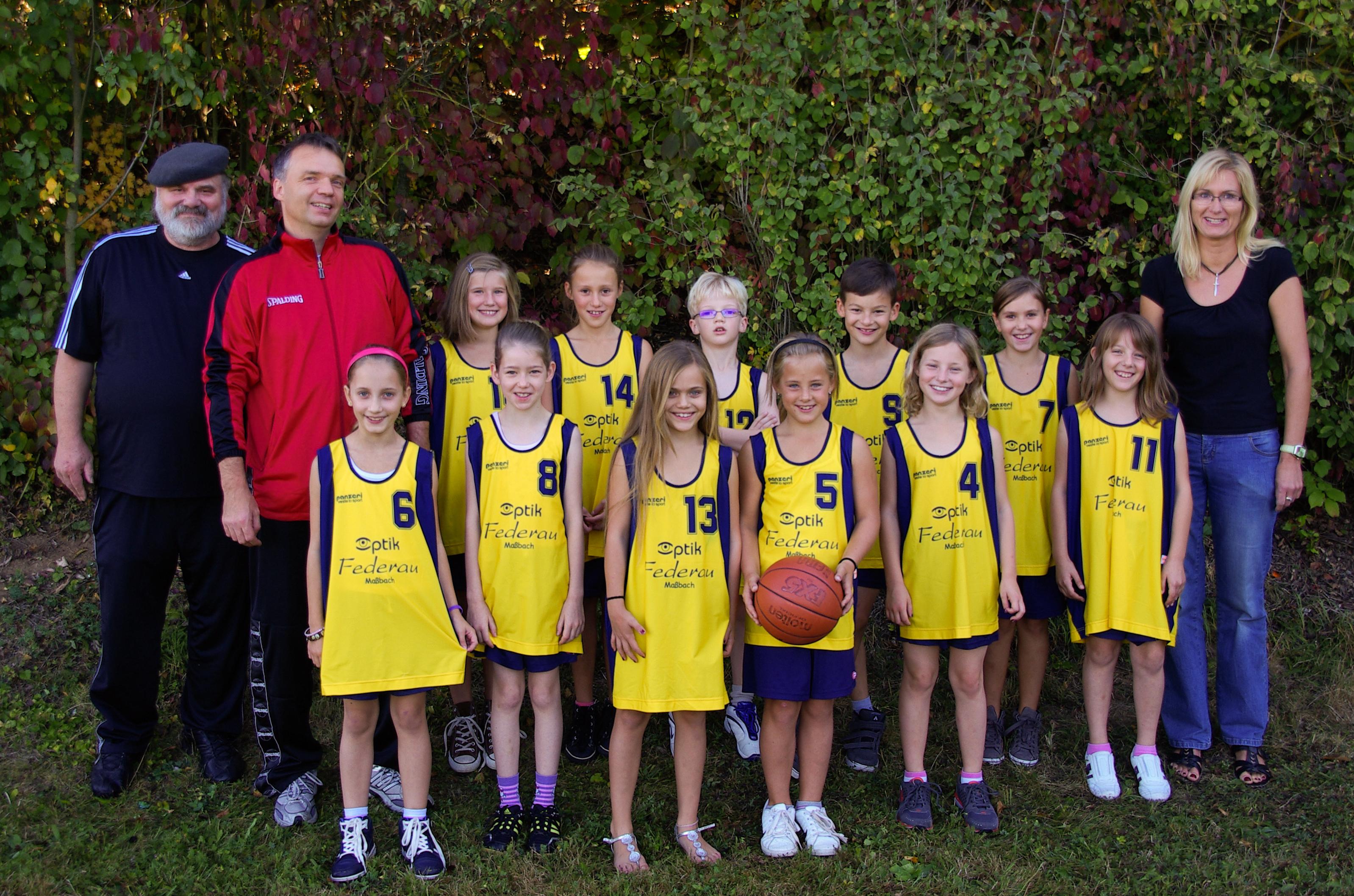 Basketball-Mannschaft 2 -gelbes Trikot -9717