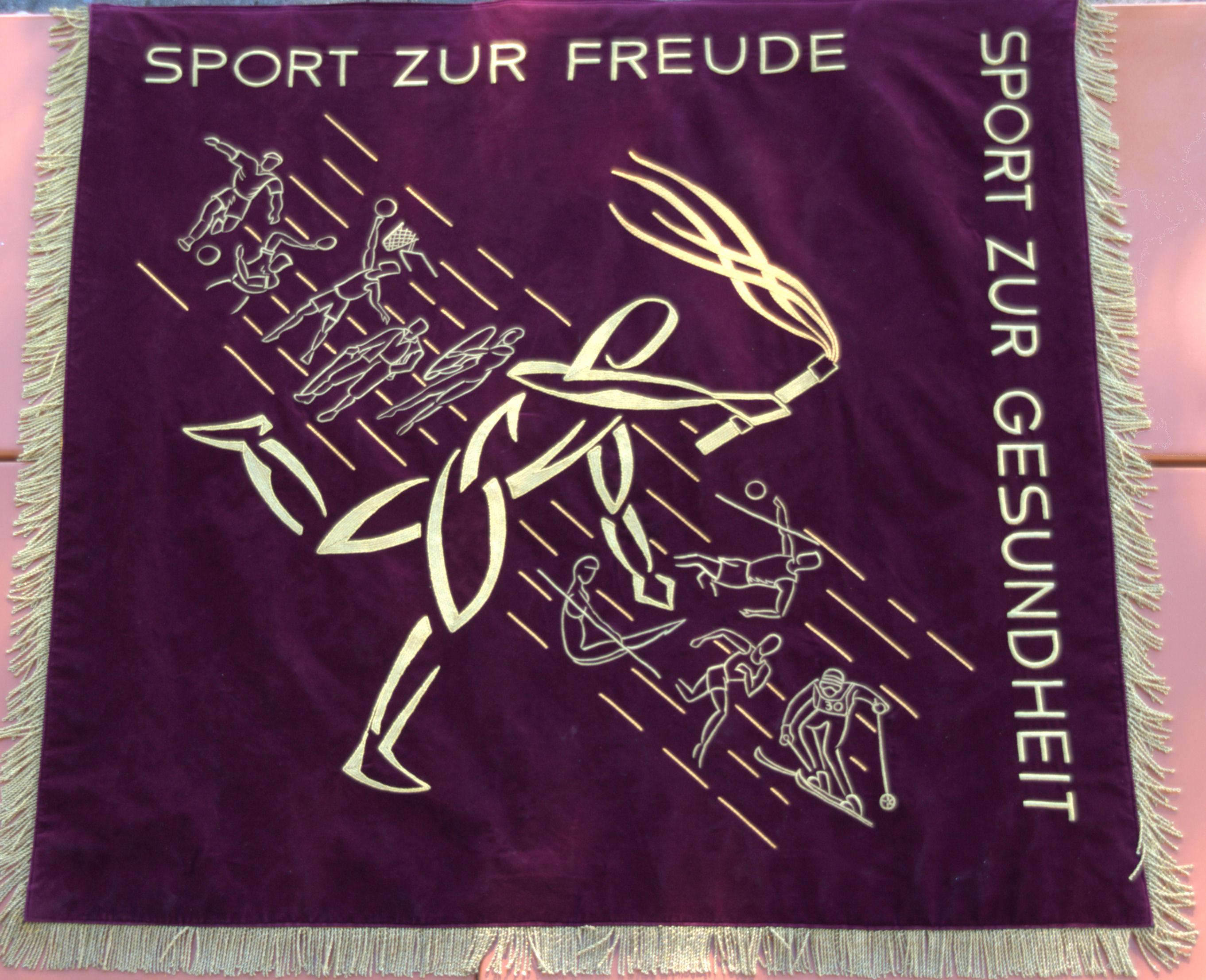 Fahne Sport zur Freude