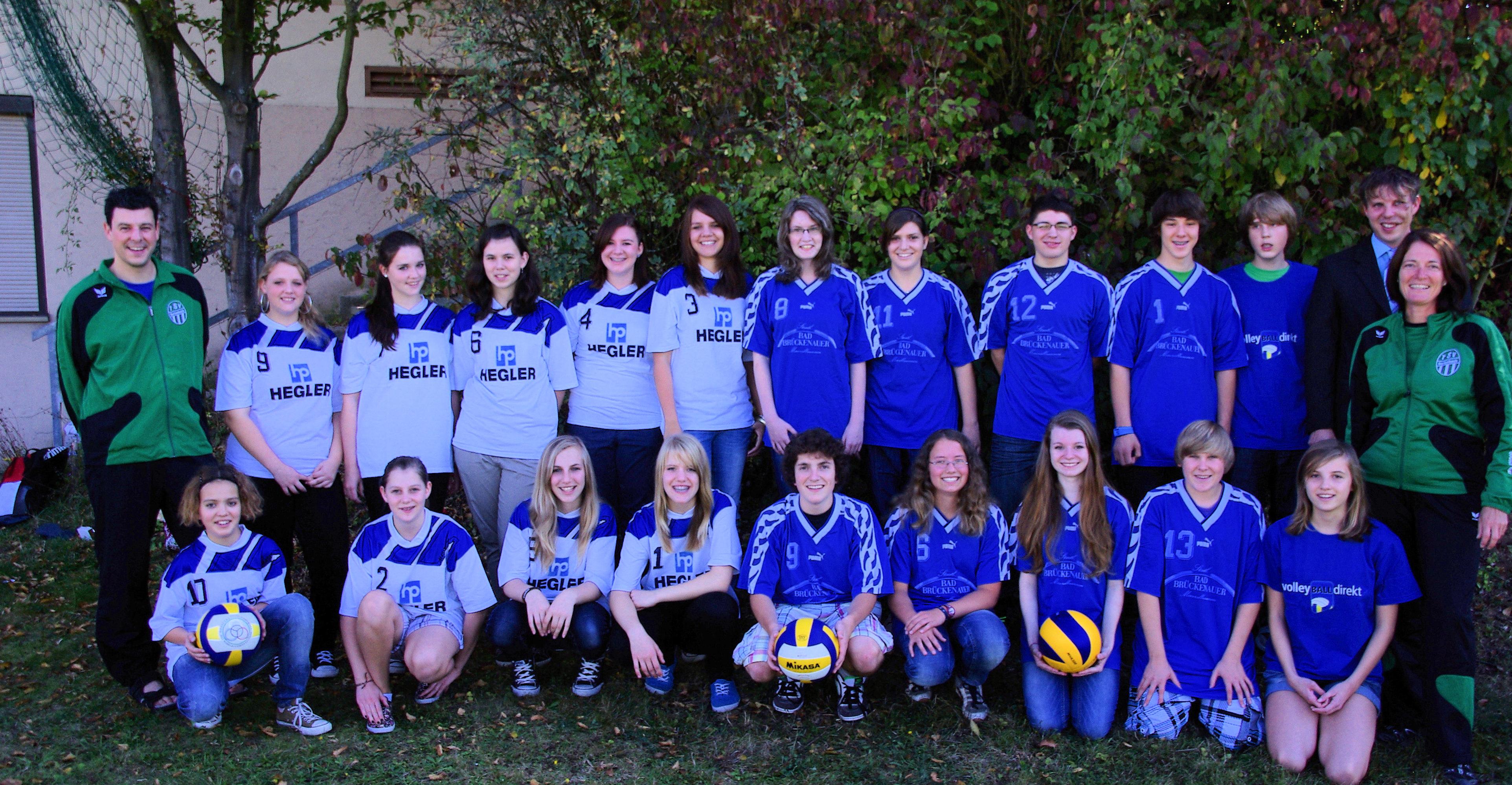 Volleyball-Jugend -Mannschaftsfoto 9850